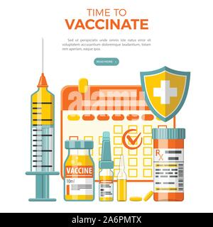Vaccination Concept Banner - Stock Photo