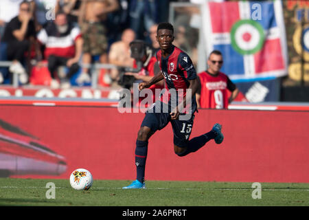 Bologna, Italy. 27th Oct, 2019. Ibrahima Mbaye (Bologna) during the Italian 'Serie A' match between Bologna 2-1 Sampdoria at Renato Dall Ara Stadium on October 27, 2019 in Bologna, Italy. Credit: Aflo Co. Ltd./Alamy Live News Stock Photo