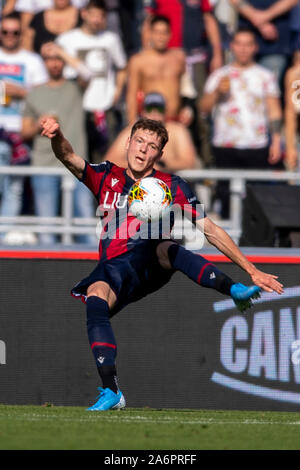 Bologna, Italy. 27th Oct, 2019. Andreas Skov Olsen (Bologna)  during the Italian 'Serie A' match between Bologna 2-1 Sampdoria at Renato Dall Ara  Stadium on October 27 , 2019 in Bologna, Italy. Credit: Aflo Co. Ltd./Alamy Live News Stock Photo