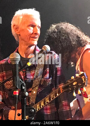 Guitarist Robby Krieger of the Doors performing at the Troubadour circa 2019. - Stock Photo