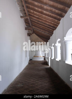 DAMBULLA / SRI LANKA - AUGUST 07, 2019:  The part of outside of the Buddha Dambulla cave.  The largest cave for the buddha temple in Sri Lanka. It's o - Stock Photo