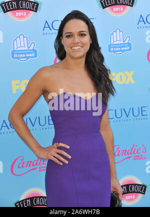 LOS ANGELES, CA. August 11, 2013: Michelle Rodriguez at the 2013 Teen Choice Awards at the Gibson Amphitheatre, Universal City, Hollywood. © 2013 Paul Smith / Featureflash - Stock Photo
