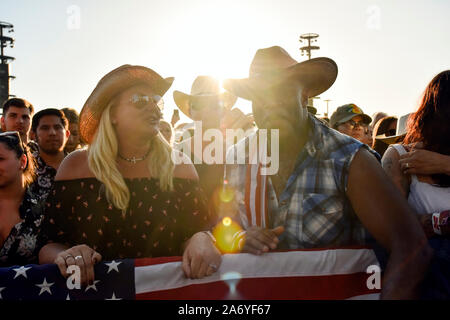 Crowd scene at the Stagecoach Country Music Festival in Indio, California - Stock Photo