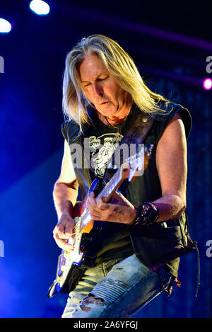 Indio, California, April 27, 2019,  Lynyrd Skynyrd performing on stage day 3 of the Stage Coach Country Music Festival. - Stock Photo