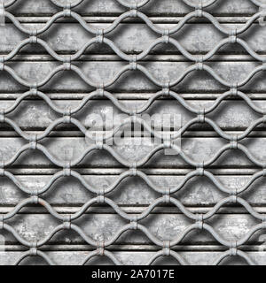 texture of roll up lattice garage door with gray metal background. Pisa. Italy. - Stock Photo