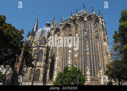 Aachener Dom cathedral church in Aachen, Germany - Stock Photo