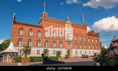 City Hall in Odense, island of Funen, Denmark - Stock Photo