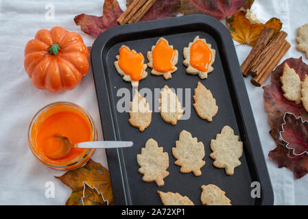 Autumn Cookies - Stock Photo