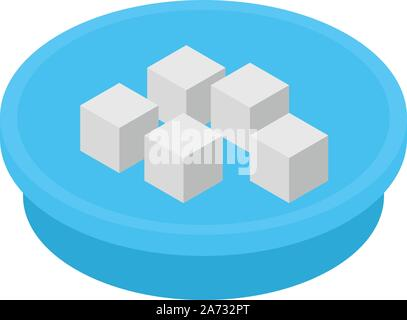 Turkish sweets icon, isometric style - Stock Photo