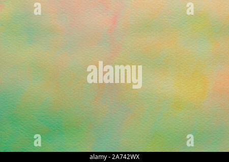 Abstract paint pattern, yellow and green background. Paint stains on canvas. Illustration with blots on light backgrounds. Creative artistic backdrop. - Stock Photo