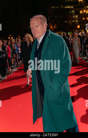FRANKFURT AM MAIN, Germany - October 18 2019: Hermann Vaske arriving at the red carpet at the Hessischer Film- und Kinopreis 2019, Red Carpet, Frankfurt am Main - Stock Photo