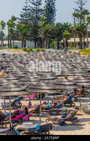A typical view in Agia Napa in Cyprus - Stock Photo