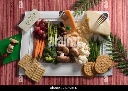 Vegan Antipasto Platter - Stock Photo