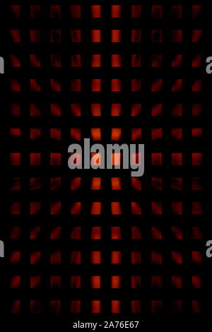 An abstract black and red grid background image. - Stock Photo