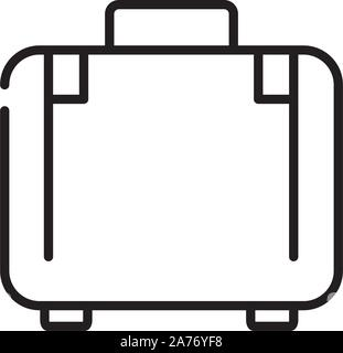 suitcase luggage tourism travel thick line vector illustration - Stock Photo