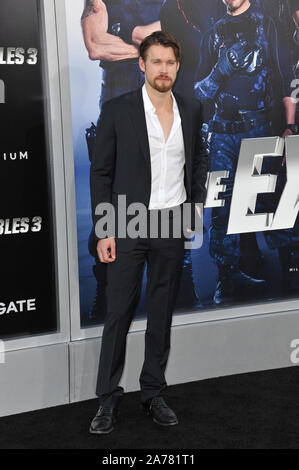 LOS ANGELES, CA - AUGUST 11, 2014: Chord Overstreet at the Los Angeles premiere of 'The Expendables 3' at the TCL Chinese Theatre, Hollywood.© 2014 Paul Smith / Featureflash - Stock Photo
