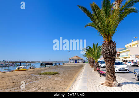 09.16.2019. Algarve, Portugal. View along the promenade and Ria Formosa. santa Luzia, East Algarve - Stock Photo