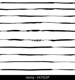 Handdrawn brush stroke seamless pattern. Memphis style pattern. Abstract background. - Stock Photo