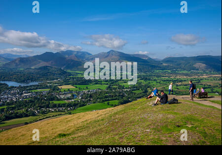 Looking towards Causey Pike and Grizedale Pike from Latrigg near Keswick Lake District National Park Cumbria England UK United Kingdom GB Great Britai - Stock Photo