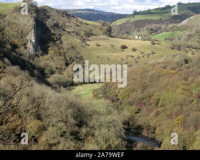 Manifold Valley, Peak District National Park, Staffordshire, England, UK in October - Stock Photo