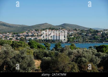 A general view of izmir çeşme ıldır village - Stock Photo