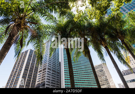 Rio de Janeiro, Brazil - February 28, 2018: Skyscrapers in the downtown - Stock Photo
