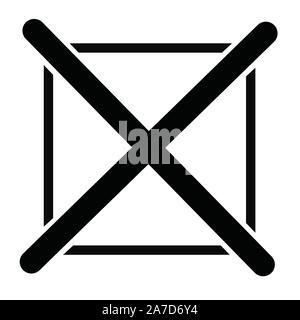 black cross mark icon on white background. cross mark icon for your web site design, logo, app, UI. flat style. - Stock Photo