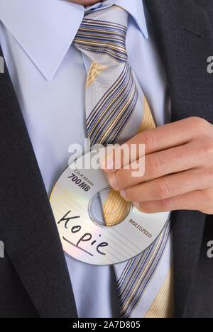 Datenklau, Verkauf der CD an das Finanzamt, MR: Yes - Stock Photo