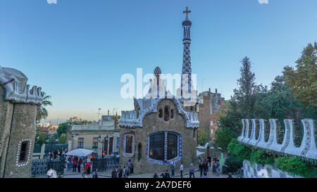 If I could I would live in Park Guell in Barcelona - Stock Photo