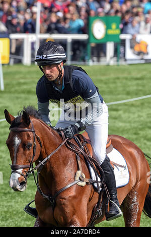 Badminton Horse Trials Gloucester May 5th 2019 Tim Price riding Ringwood Sky boy for New Zealand in the 2019 Badminton horse trials 2019 - Stock Photo
