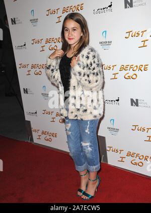 LOS ANGELES, CA - APRIL 20, 2015: Coco Arquette at the premiere of 'Just Before I Go' at the Arclight Theatre, Hollywood. © 2015 Paul Smith / Featureflash - Stock Photo