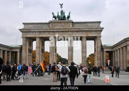 Around Berlin - Brandenburg Gate - Litefest 2013 - Stock Photo