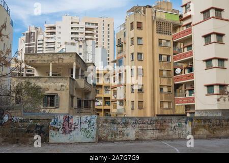 Apartment blocks in central Beirut, Lebanon - Stock Photo