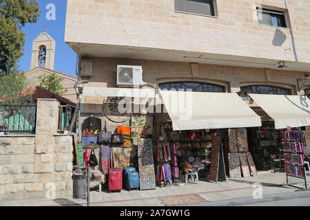 King Talal Street, Madaba, Madaba Governorate, Jordan, Middle East - Stock Photo