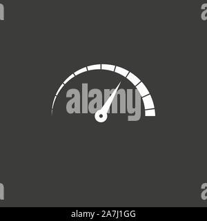Speed, speedometer icon. Vector illustration, flat design - Stock Photo