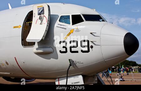 US Navy P-8A Poseidon at the 2019 Royal International Air Tattoo - Stock Photo