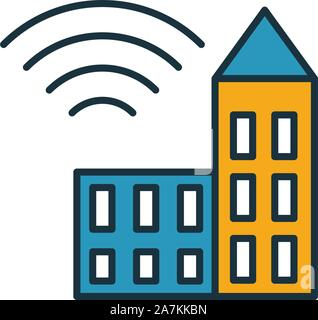 City Internet icon. Simple element from icons collection. Creative City Internet icon ui, ux, apps, software and infographics - Stock Photo