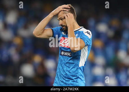 Fernando Llorente of Napoli gestures Napoli 14-9-2019 Stadio San Paolo  Football Serie A 2019/2020  SSC Napoli - UC Sampdoria Photo Cesare Purini / In - Stock Photo