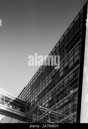 COPENHAGEN, DENMARK - SEPTEMBER 21, 2019: The Black Diamond in Copenhagen was finished in 1999 and is an extension to the Royal Library. - Stock Photo