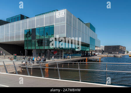 COPENHAGEN, DENMARK - SEPTEMBER 21, 2019: Located on the Copenhagen Harbour front, BLOX is part of the city's cultural circuit of venues that have a r - Stock Photo