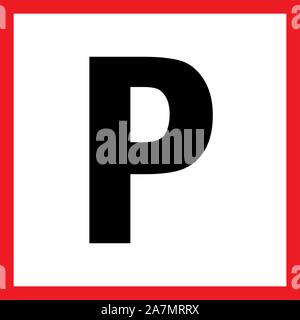 Parking sign traffic symbol vector illustration. Traffic rules and regulations. - Stock Photo