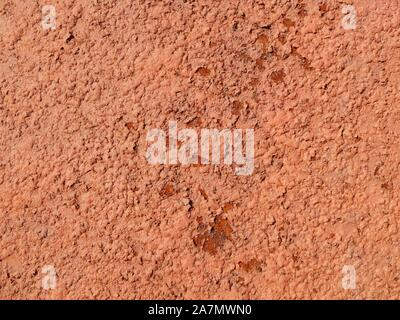 Background texture rust closeup. Rust consisting of surface brown, natural sample fracture, decorative macro striped, hard rust decor, fashionable str