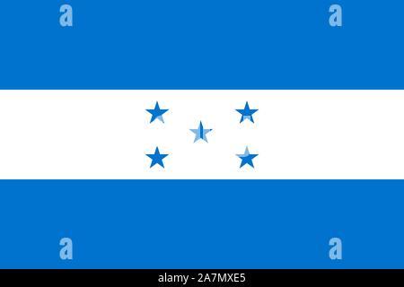 Honduras flag vector national symbol illustration background graphics design. - Stock Photo