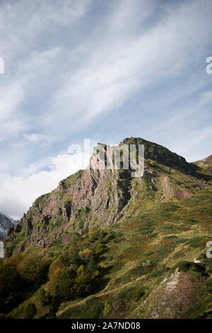 Peaks in Aspe Valley in the Pyrenees - Stock Photo