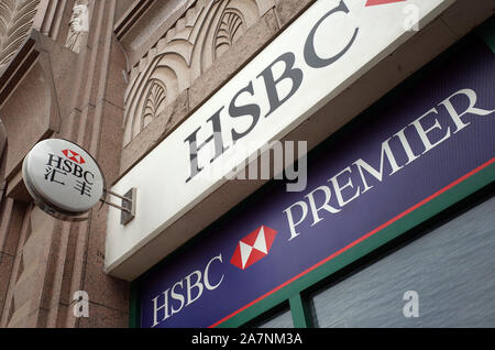--FILE--View of a branch of HSBC (the Hongkong and Shanghai Banking Corporation Limited) in Shanghai, China, 12 May 2016.  The chief executive of HSBC - Stock Photo