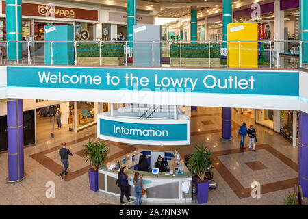 Interior of The Lowry Outlet Centre, Salford Quays, Salford, Manchester, Greater Manchester, England, United Kingdom - Stock Photo