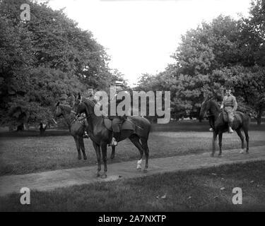 U.S. Secretary of War William Howard Taft on Horseback, Washington, D.C., USA, Photograph by Harris & Ewing, 1908 - Stock Photo