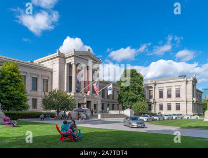 Exterior of the Museum of Fine Arts, Boston, Massachusetts, USA - Stock Photo