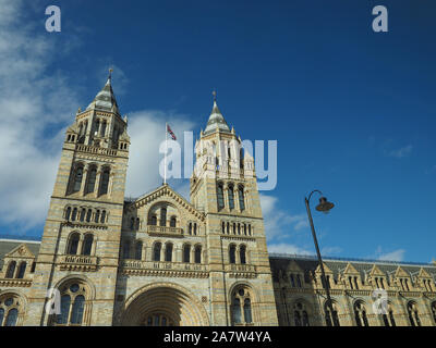 The Natural History Museum on Exhibition Road in South Kensington in London, UK - Stock Photo