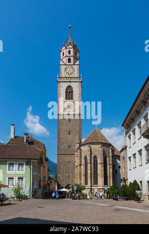MERANO, ITALY - JULY 20, 2019 - Saint Nicholas church in the old town - Stock Photo